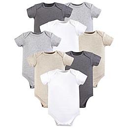 Hudson Baby® 8-Pack Short Sleeve Bodysuits in Grey