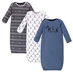 Yoga Sprout® 3-Piece Little Man Gown Set