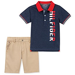 Tommy Hilfiger® 2-Piece Polo Shirt and Short in Navy/Red