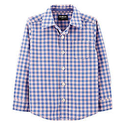 OshKosh B'gosh® Easter Checkered Shirt in Blue/Pink