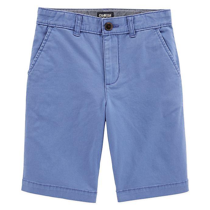 Alternate image 1 for OshKosh B'gosh® Flat Front Shorts in Blue