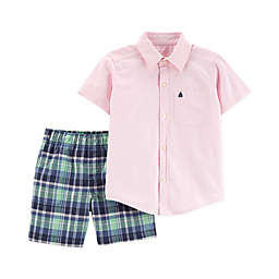 carter's® Sailboat Top & Shorts 2-Piece Set in Pink