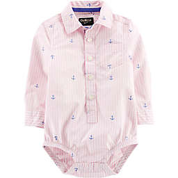 OshKosh B'gosh® Easter Stripe & Anchor Bodysuit in Pink/White