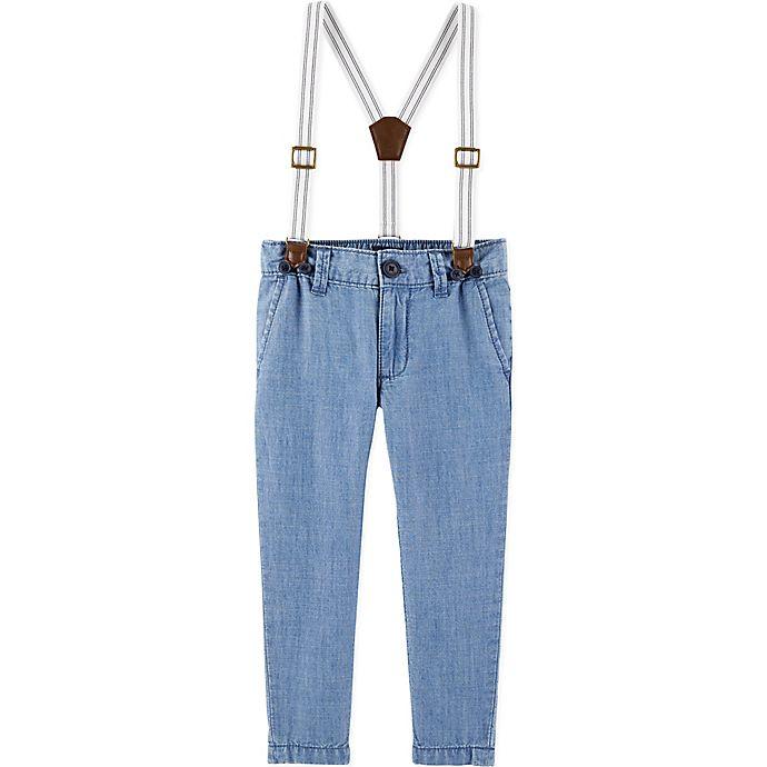 Alternate image 1 for OshKosh B'gosh® Chambray Suspender in Blue