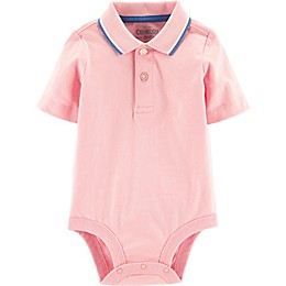 OshKosh B'gosh® Polo Bodysuit in Pink