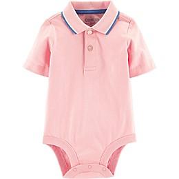 OshKosh B'gosh® Polo Bodysuit in Pink