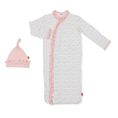 Magnetic Me™ Size 0-3M Carousel Ruffle Magnetic Modal Gown in Pink