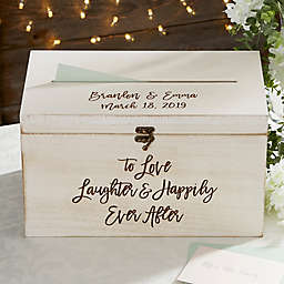 Ever After Personalized Wedding Wood Card Box