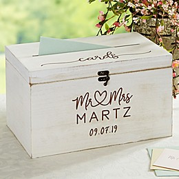 Infinite Love Personalized Wedding Wood Card Box