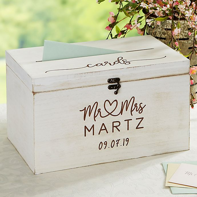 Alternate image 1 for Infinite Love Personalized Wedding Wood Card Box