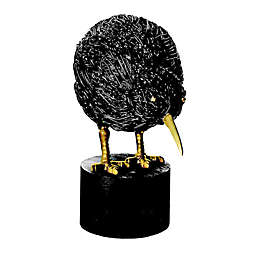 Global Views Kiwi Bird Large Statue in Black Iron/Bronze