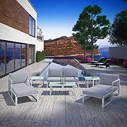 Modway Fortuna Outdoor 9-Piece Patio Sectional Sofa Furniture Set