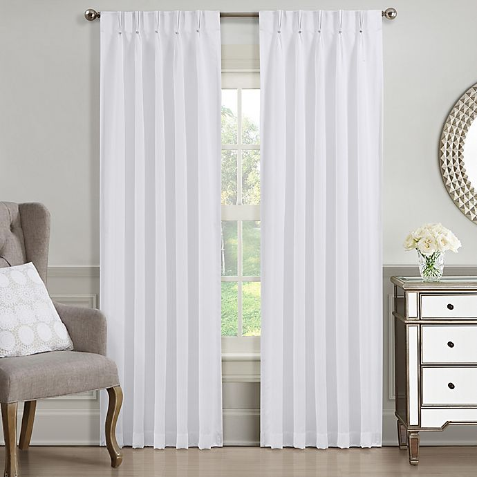 Alternate image 1 for J. Queen New York™ Aida 63-Inch Rod Pocket Window Curtain Panel in White