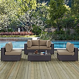 Modway Convene 5-Piece Outdoor Patio Sectional Set