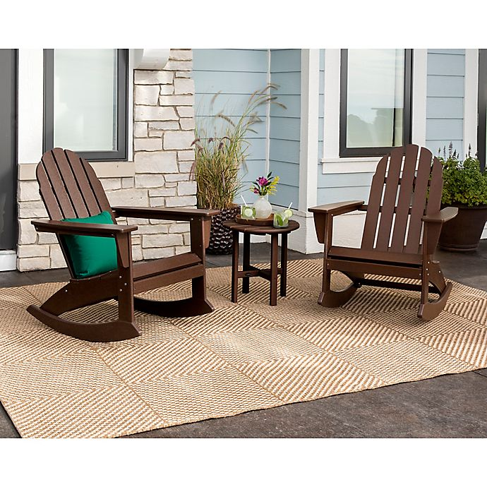 Fabulous Polywood Vineyard 3 Piece Rocking Adirondack Patio Pdpeps Interior Chair Design Pdpepsorg