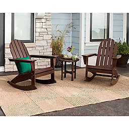POLYWOOD® Vineyard 3-Piece Rocking Adirondack Patio Conversation Set