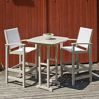 POLYWOOD® Coastal 3-Piece Outdoor Bar Set