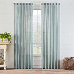 Carla 95-Inch Rod Pocket/Back Tab Sheer Window Curtain Panel in Spa