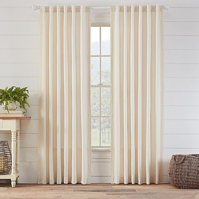 Alternate image 1 for Ellan 63-Inch Rod Pocket/Back Tab Window Curtain Panel in Natural