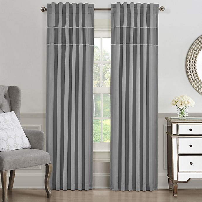 Alternate image 1 for J. Queen New York™ Elsa 84-Inch Window Curtain Panel in Grey