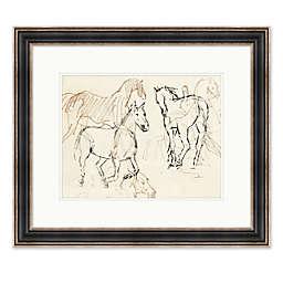 Horses Sketch 28.25-Inch x 24.25-Inch Framed Wall Art