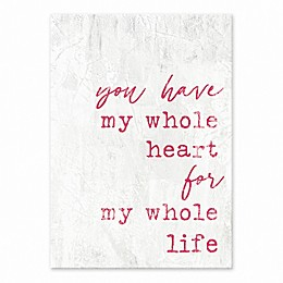 Designs Direct You Have My Heart Tabletop Canvas in Pink
