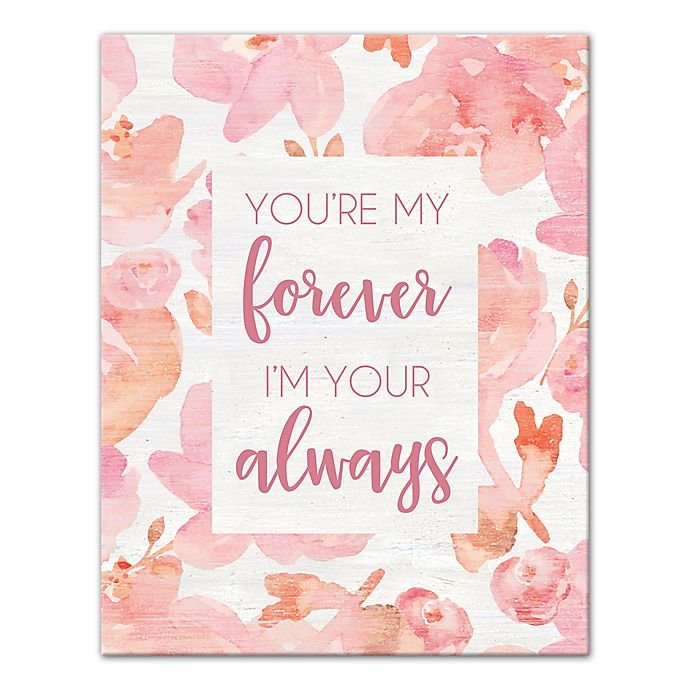 Alternate image 1 for Designs Direct My Forever 11-Inch x 14-Inch Canvas Wall Art