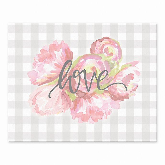 Alternate image 1 for Designs Direct Love Buffalo Checkered 8-Inch x 10-Inch Canvas Wall Art