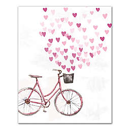Designs Direct Bike With Hearts 16-Inch x 20-Inch Canvas Wall Art