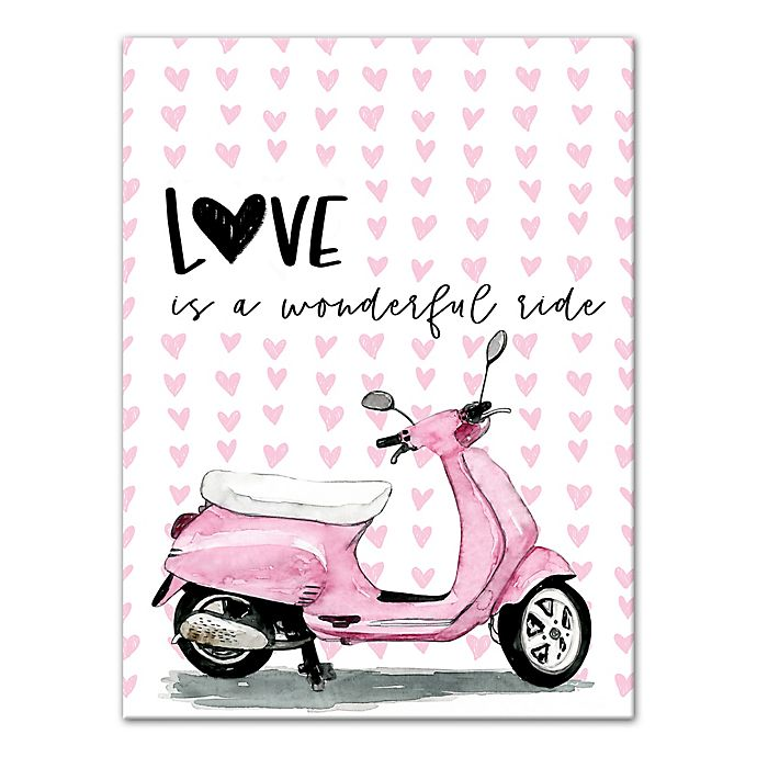 Alternate image 1 for Designs Direct Love Wonderful Ride 12-Inch x 16-Inch Canvas Wall Art
