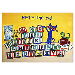 Pete The Cat Block Letters 2'11 x 4'3 Non-Skid Accent Rug