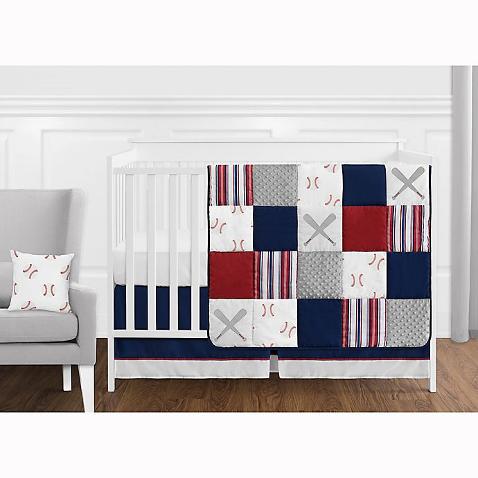 Alternate image 1 for Sweet Jojo Designs® Baseball Patch Crib Bedding Collection