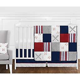 Sweet Jojo Designs® Baseball Patch 11-Piece Crib Bedding Set in Red/White/Blue