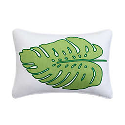 Coastal Life Luxe Honolulu Palm Leaf Throw Pillow in Green