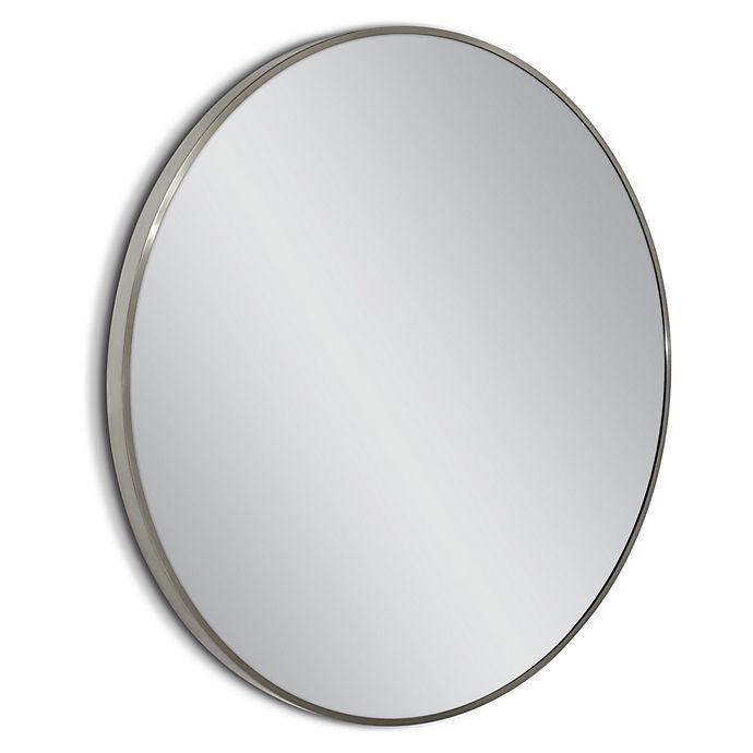 Alternate image 1 for Head West Spectrum Metal 35-Inch Circle Mirror in Brushed Nickel