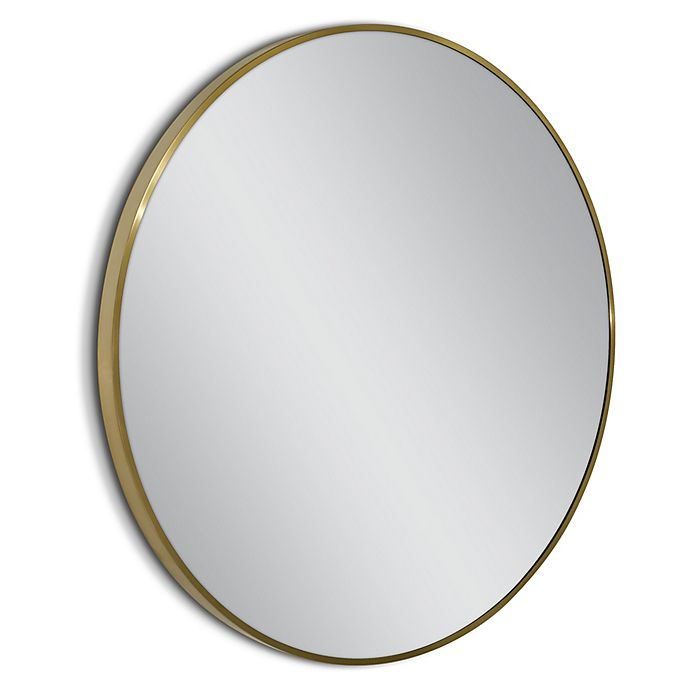 Alternate image 1 for Head West Spectrum Metal 35-Inch Circle Mirror in Gold