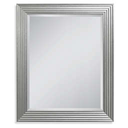 Head West Fluted Gallery Rectangular Mirror in Silver