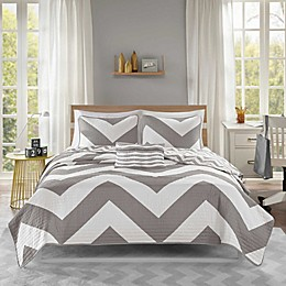 Mi Zone Libra Coverlet Set in Grey