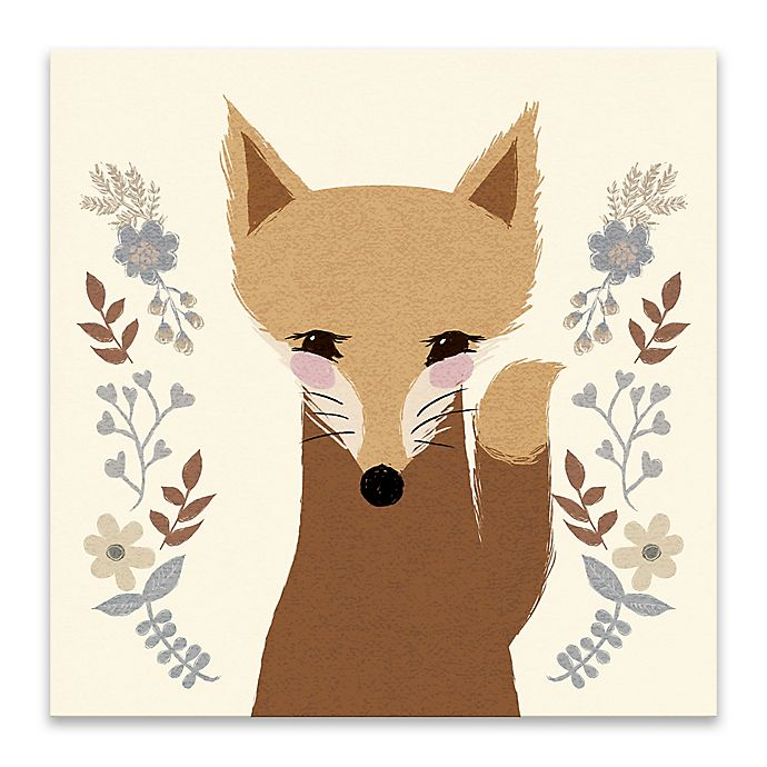 Alternate image 1 for Lot26 Studio Sweet Fox 18-Inch Square Wrapped Canvas Wall Art