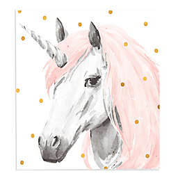 Lot26 Studio Unicorn 18-Inch Square Wrapped Canvas