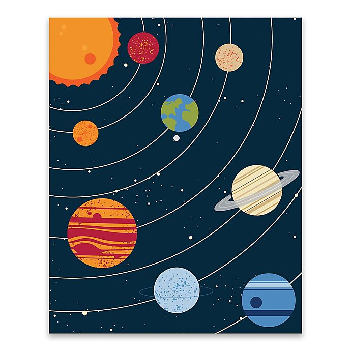 Alternate image 1 for Lot26 Studio Solar System 16-Inch x 20-Inch Wrapped Canvas