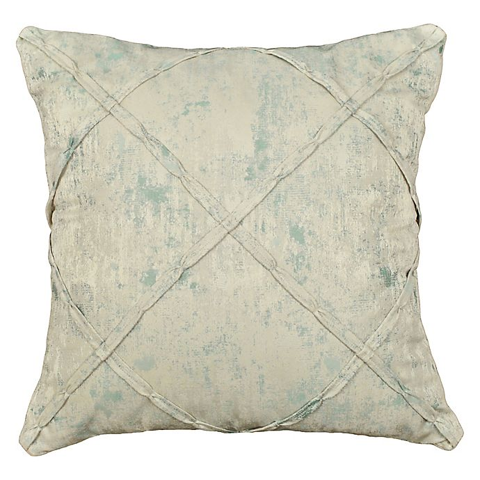 Alternate image 1 for Rose Tree Placio 20-Inch Square Throw Pillow in Seafoam