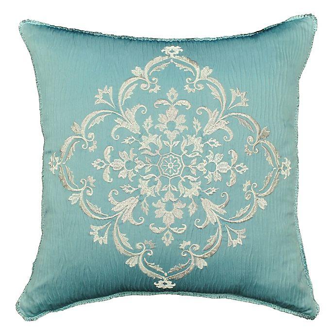 Alternate image 1 for Rose Tree Placio 18-Inch Square Throw Pillow in Seafoam