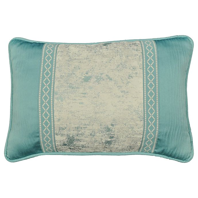 Alternate image 1 for Rose Tree Placio Oblong Throw Pillow in Seafoam