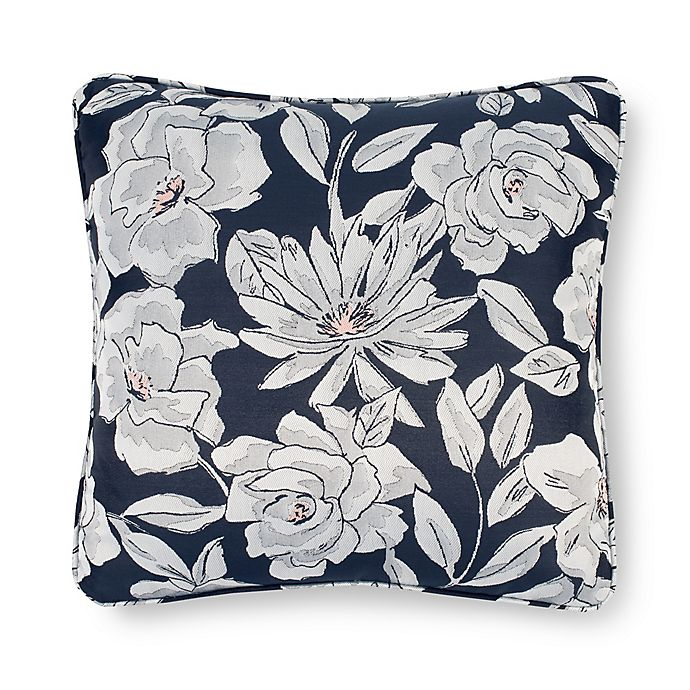 Alternate image 1 for Laundry by SHELLI SEGAL® Cameron Square Throw Pillow in Navy