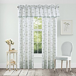 Piper & Wright Eva 84-Inch Rod Pocket Window Curtain Panel Pair in Spa