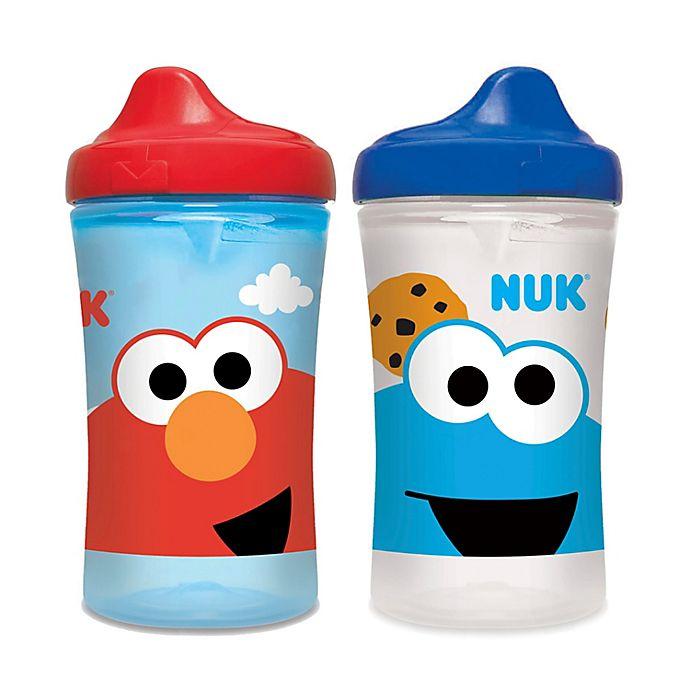 Alternate image 1 for NUK® Sesame Street® 10 oz. Hard Spout Cup (Set of 2)