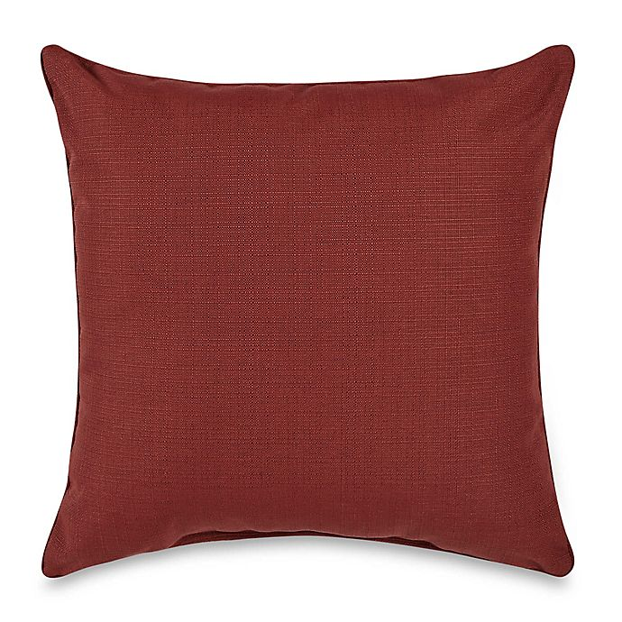 Alternate image 1 for Medford Solid Square Outdoor Throw Pillow in Cherry