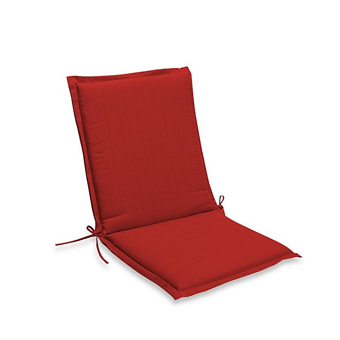 Alternate image 1 for Medford Solid Outdoor Folding Sling Chair Cushion in Cherry