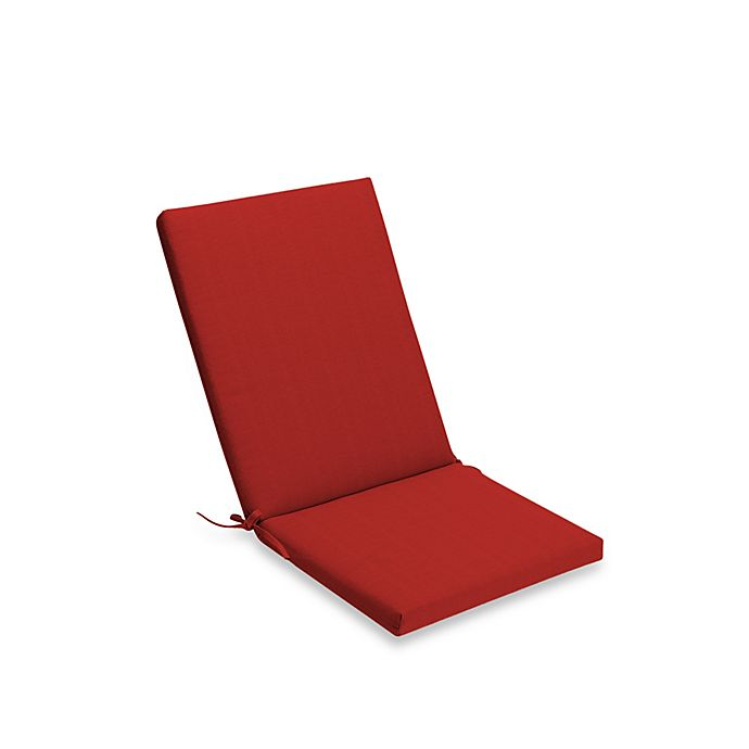 Medford Solid Outdoor Folding Wicker Chair Cushion Bed